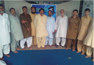 A Skype Lecture gathering in Jhang, Rural Pakistan
